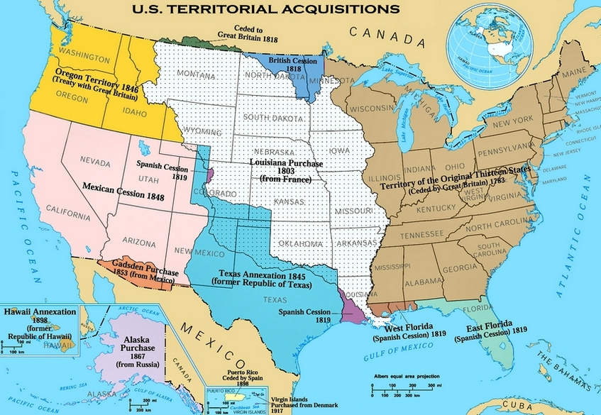 Us Land Acquisition Map United States Maps: Acquisition of Territory; Expansionism