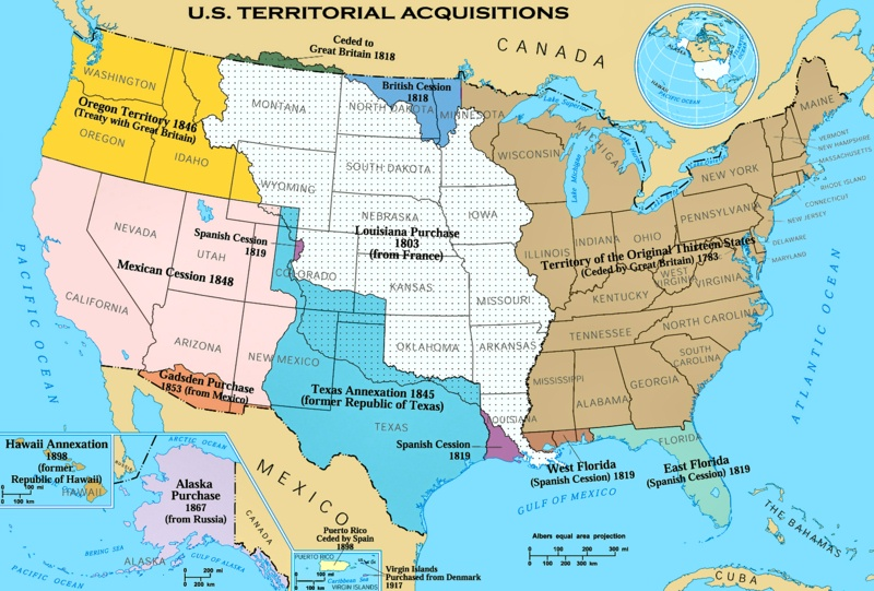 US Expansion Map Expansionism Maps Westward Expansion - The confederate states us territories and united states map