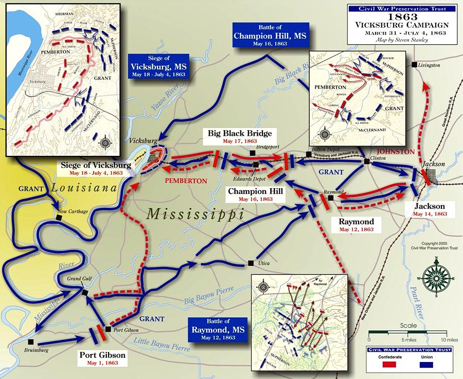 civil war road map