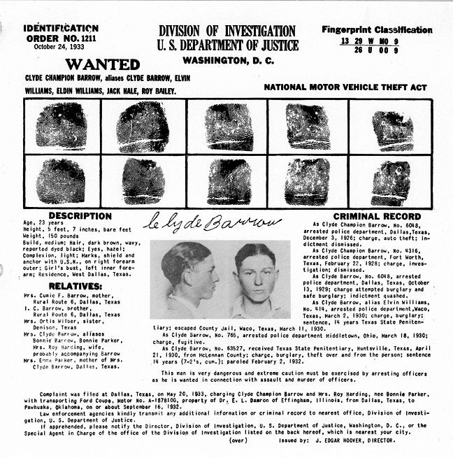 Bonnie and Clyde Most Wanted Poster.jpg
