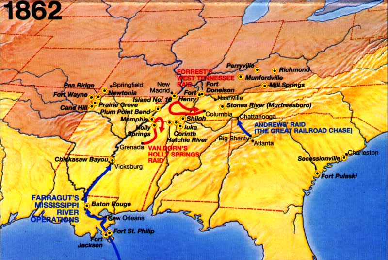 Battle Of Fort Donelson And Battle Of Shiloh - Fort donelson on us map